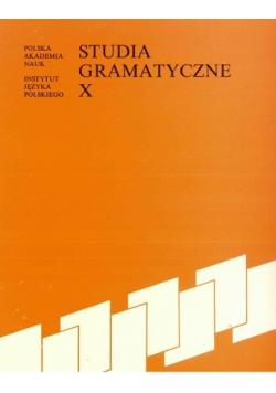 Studia gramatyczne tom X