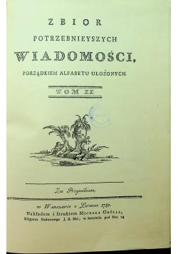 Zbiór potrzebnych wiadomości porządkiem alfabetycznym ułożonych tom  II reprint 1781 r