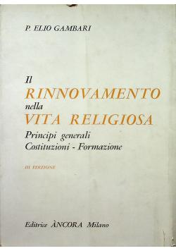 Il Rinnovamento nella Vita Religiosa