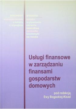 Usługi finansowe w zarządzaniu finansami gospodarstw domowych