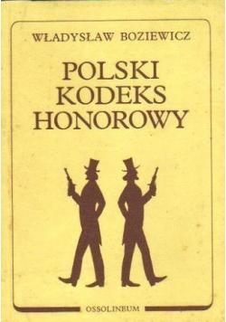 Polski Kodeks Honorowy reprint z 1939 r