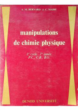Manipulations de chimie physique