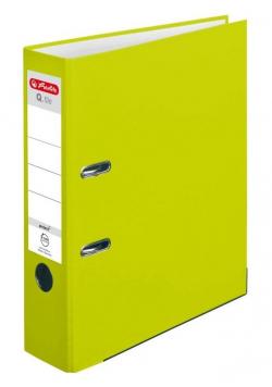 Segregator A4 8cm PP zielony neon Q file