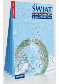 Świat. Mapa polity. i krajobra. 1: 31000000 w.2020