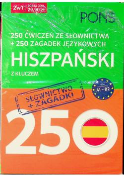 250 ćwiczeń i 250 zagadek słownictwo Hiszpański 2w1