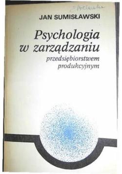 Psychologia w  zarządzaniu