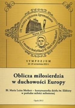 Oblicza miłosierdzia w duchowości Europy