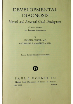 Developmental Diagnosis Second Edition