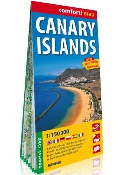 Canary Islands laminowana mapa turystyczna 1:150 000