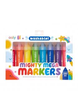 Flamastry zmywalne Mighty Mega 8 kolorów