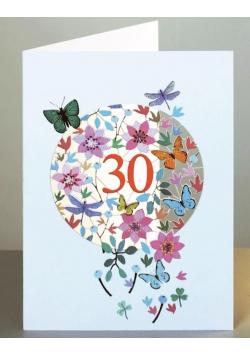 Karnet F30 wycinany + koperta Urodziny 30