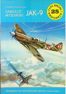 Typ broni i uzbrojenia Nr 25 Samolot myśliwski JAK - 9