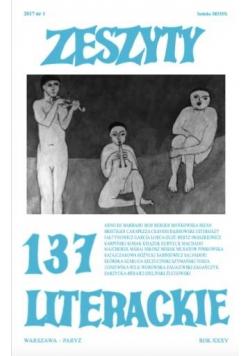 Zeszyty literackie 137 1/2017