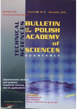 Bulletin of the polish academy of sciences volume 58 no 4