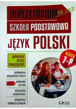 Repetytorium Szkoła Podstawowa Język polski klasa 7 - 8