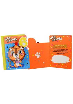 Karnet B6 DK-797 Urodziny 6 lwiątko
