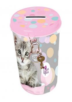 Skarbonka metalowa Sweet Pets Kot