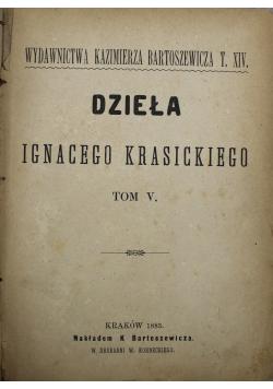 Dzieła Ignacego Krasickiego Tom V 1883 r.