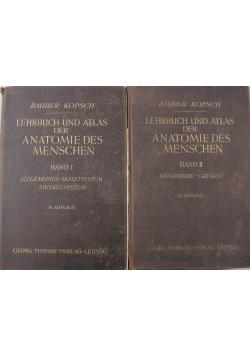 Lehrbuch und Atlas der Anatomie des Menschen Band 1 i 2 ok. 1941 r.