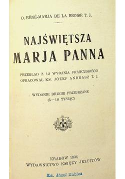 Najświętsza Marja Panna 1934 r.