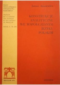 Konstrukcje analityczne we współczesnym języku polskim
