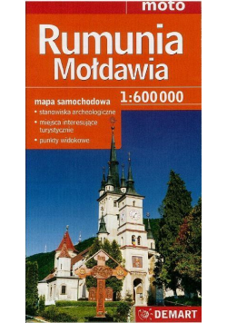 Rumunia, Mołdawia mapa samochodowa 1:600 000