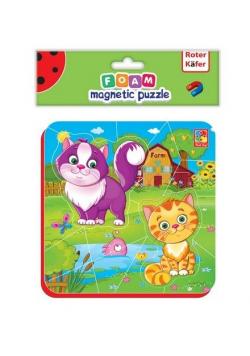 Miękkie magnetyczne puzzle Kotki na wsi