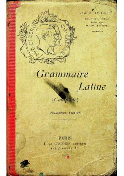 Grammaire Latine cinquieme edition 1918r