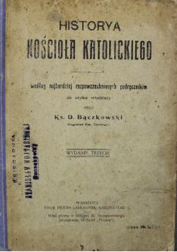 Historya Kościoła katolickiego 1903 r.