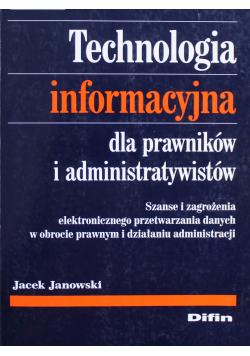 Technologia informacyjna dla prawników i administratywistów