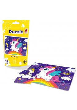 Puzzle edukacyjne - Jednorożec