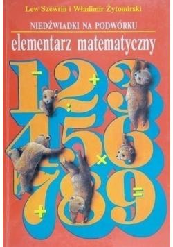 Niedźwiadki na podwórku Elementarz matematyczny