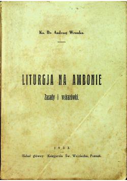 Liturgja na ambonie Zasady i wskazówki 1933 r