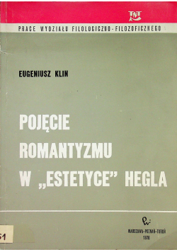 Pojęcie romantyzmu w estetyce Hegla