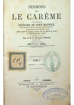 Sermons pour le careme 1859 r.