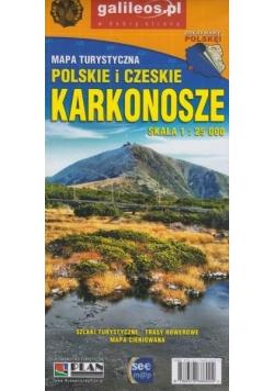 Mapa tur. Karkonosze polskie i czeskie 1:25 000