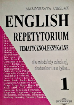 English repetytorium tematyczno - leksykalne 1