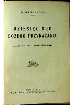Dziesięcioro Bożego przykazania 1925 r