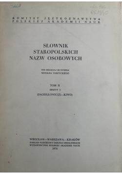 Słownik staropolskich nazw osobowych Tom II zeszyt 3