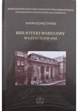 Biblioteki Warszawy w latach 1939 1945 Nowa