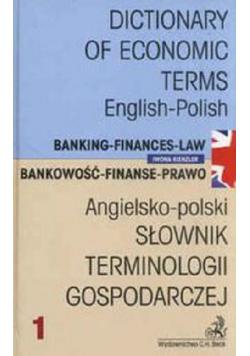 Słownik terminologii gospodarczej Angielsko - Polski