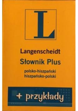 Słownik PLUS polsko hiszpański hiszpańsko polski