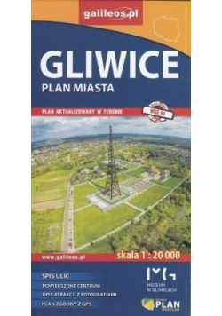 Plan miasta - Gliwice 1:20 000