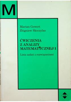 Ćwiczenia z analizy matematycznej 1