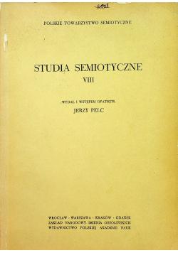 Studia semiotyczne VIII