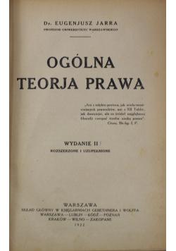 Ogólna teorja prawa 1922 r.