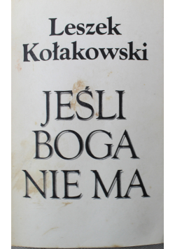 Jeśli Boga nie ma