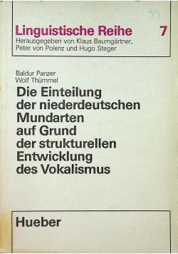 Die Einteilung der niederdeutschen Mundarten auf Grund