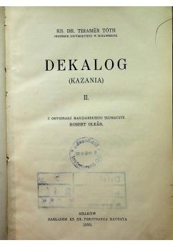 Dekalog Kazania Tom II 1933 r