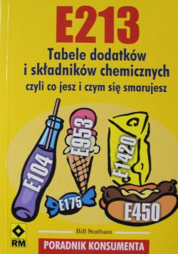E213 Tabele dodatków i składników chemicznych